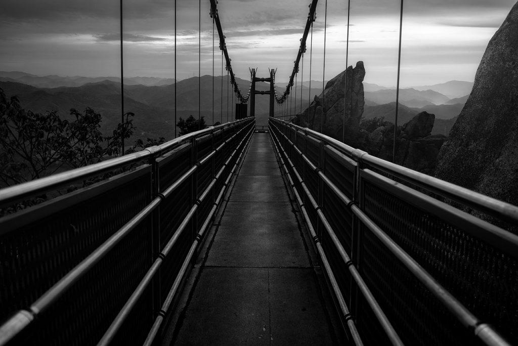 Wolchul Mountain bridge