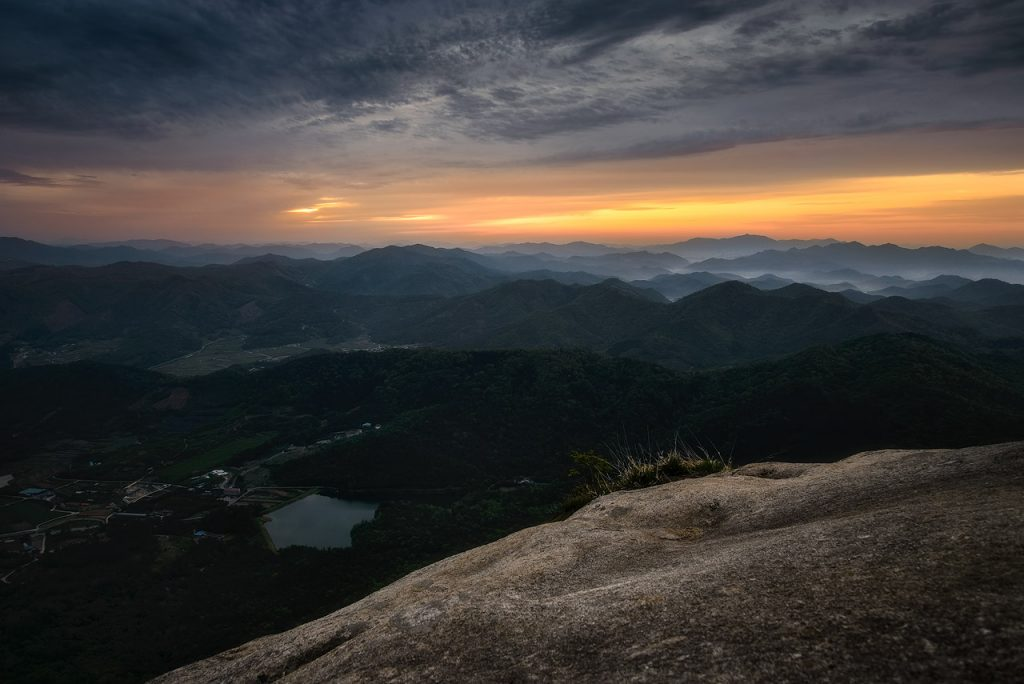 Sunrise from the slopes of Wolchulsan
