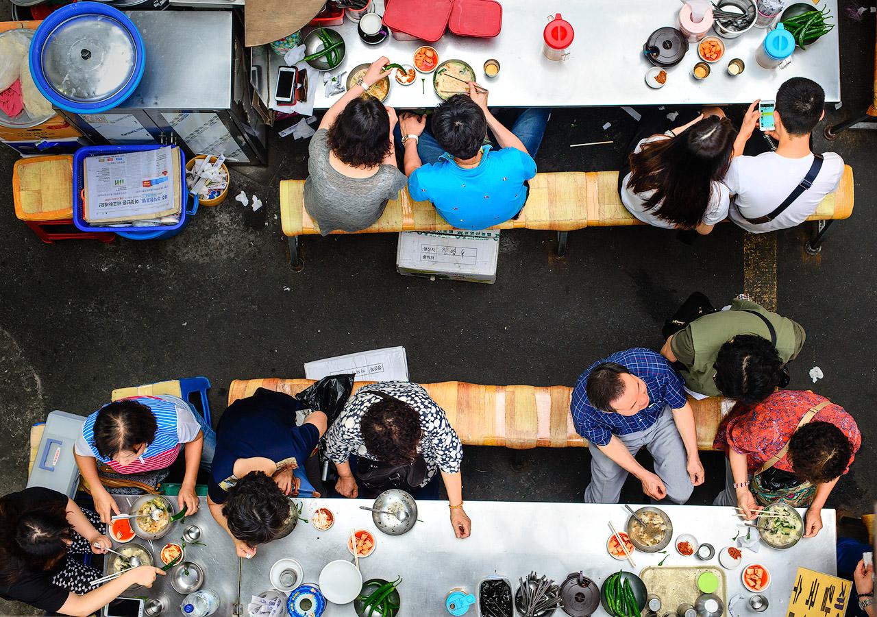 Aerial shot of Daegu's Seomun Market.