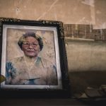 A dusty portrait of an old lady