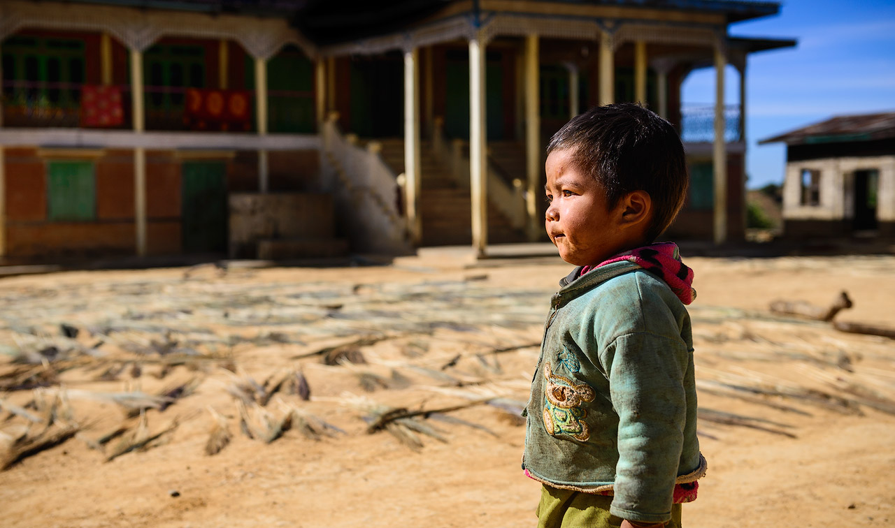 Burmese girl at monastery
