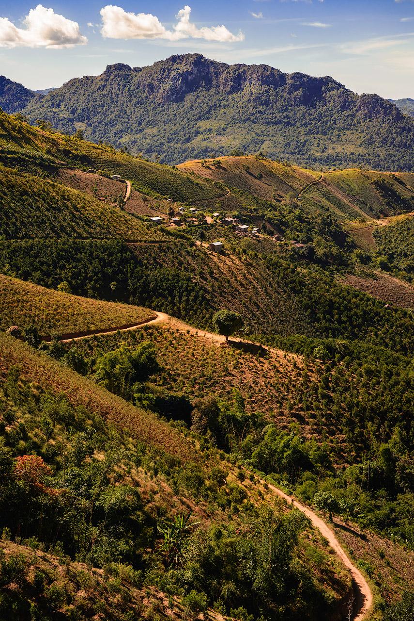 Layered hills in Shan State, Burma