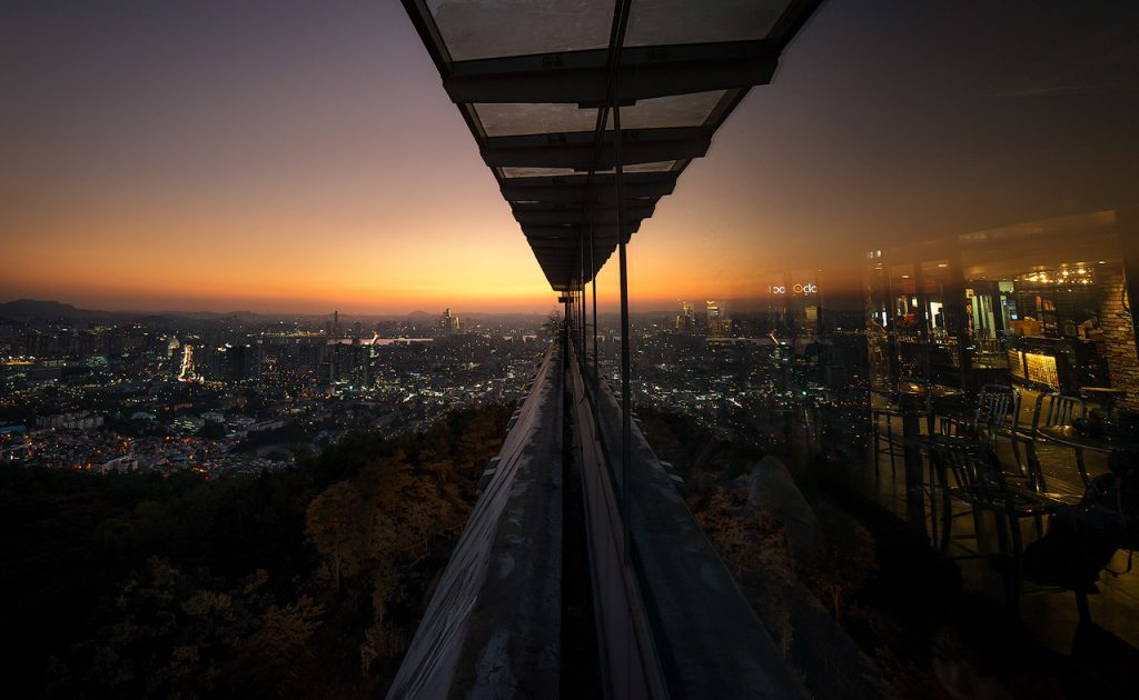 View from Seoul N Tower over the city