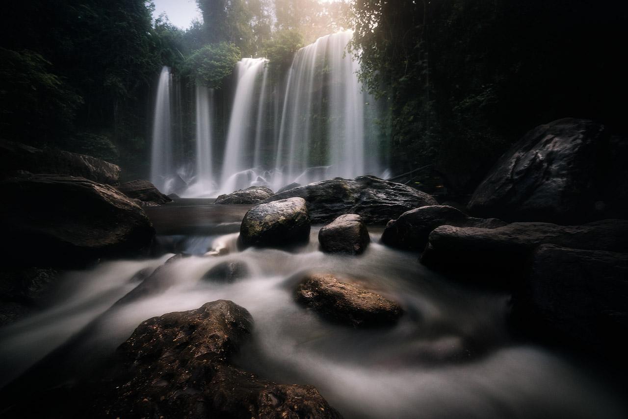 Phnom Kulen waterfall long exposure
