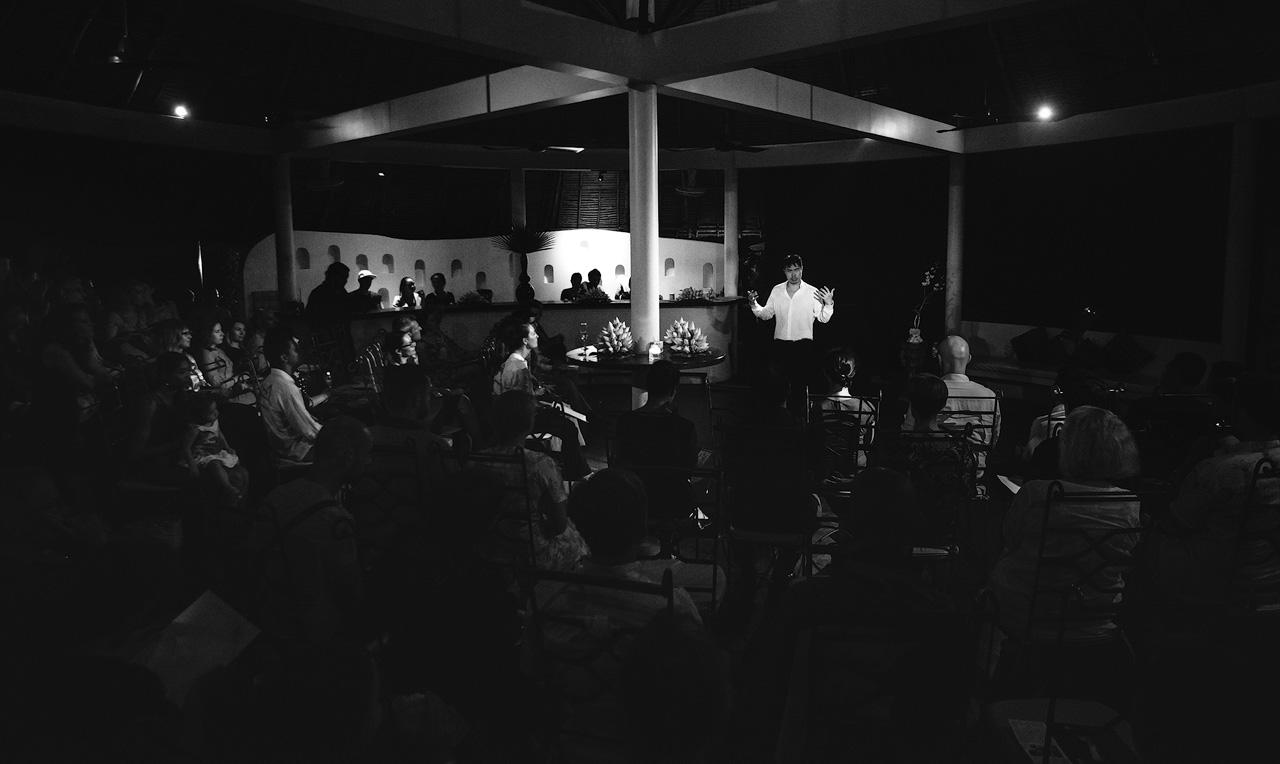 Martin Ng sings at Navutu Dreams Resort
